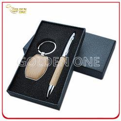 Set regalo chiavi in legno e penna a sfera