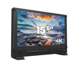 """15.6"""" 4k 3840*2160 Director de Broadcast Monitor con 3G-SDI, HDMI, DVI"""