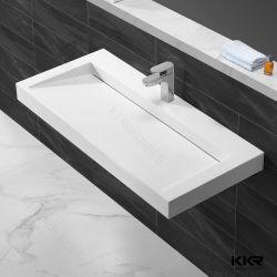 Dispersori di superficie solidi della pietra del marmo del bacino della stanza da bagno di disegno dei lavabi degli articoli del dispersore sanitario della stanza da bagno