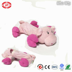Cerdo de color rosado suave felpa botella PET poner juguetes para perro