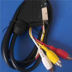 21 Pin Scart zu 3RCA PVC Injection Cable (ca-014)