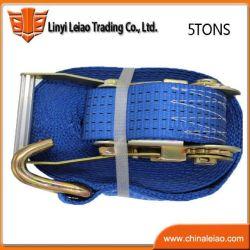 5toneladas correia com catraca Azul de poliéster personalizada