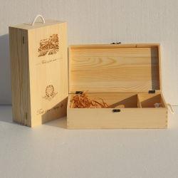 Confezione in legno per 6 bottiglie e 2 bottiglie in legno Scatola per vino scatola in legno regalo per bottiglie di vino