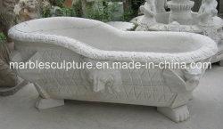 Goedkope prijs Pure White kleine marmeren badkuipen (SY-BT015)