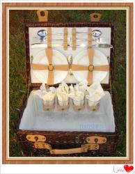El Sauce la comida de picnic de almacenamiento de mimbre Canasta de vino de regalo