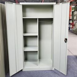 Tür-Metallaktenschrank der China-Fabrik-Zubehör-Qualitäts-Stahlspeicher-Büro-Möbel-2 mit 4 justierbaren Regalen