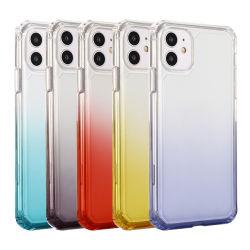 Toebehoren van de Telefoon Schokbestendige TPU van het Kristal van de Kleur van de Gradiënt van de luxe de Mobiele de Gevallen van de Rugdekking