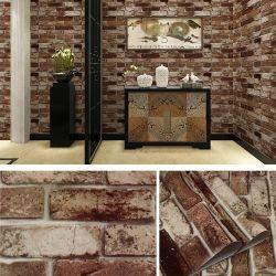 Usine mur de pierre 3D d'alimentation papier pour la décoration de fabrication du papier peint