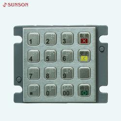Le cryptage 3DES Mini taille Pinpad crypté clavier avec Braille Dot pour l'UPT