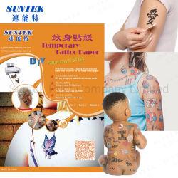 Fashion Design arte corporal autocolantes tatuagem temporária à prova de água removível/Autocolante de papel