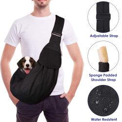 Пэт перевозчика Hand-Free строп Bag регулируемый ремень женская сумка дышащий материал из хлопка сумки через плечо передний карман для мелких собак Cat