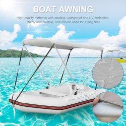 Надувная лодка Bimini Top Sunbrella с ремнями водонепроницаемая лодка Sunshade Закройте верхнюю затенение Bimini задней опорой