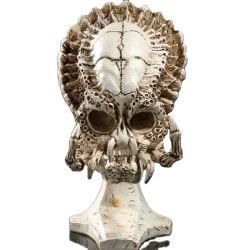 Custom Resin Predator Alien Skull