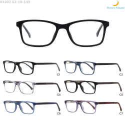 Hot vendre Anti-Blue lumière rectangulaire Acétate d'injection de châssis de lunettes de verres optiques pour les hommes