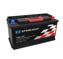 12V Batterij van de Auto van de Aanzet van de Sprong van de Batterij van het Lithium LiFePO4 van 100-20 de Navulbare