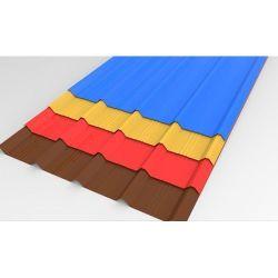La construcción de techos Matéria de piedra de la hoja de metal revestido de azulejos de tamaño largo Corrugate Teja