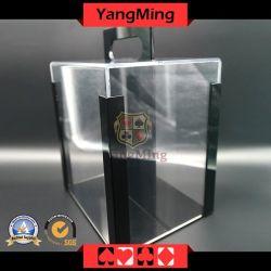 Jogo de Póquer Texas Casino Chips Redonda Carrier 1000PCS Plena Chips transparente caso com pega