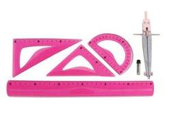 승진 선물 문구용품 다채로운 PVC 유연한 30cm 6PCS는 학교와 사무용품을%s 나침의 통치자로 놓았다