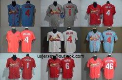 도매 커스텀 카디널스 몰리나 O. 스미스 M-L-B Replica Cool Flex Base Baseball Jerseys
