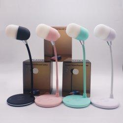 مصباح طاولة، مصباح المبيت المزود بجهاز استشعار تعمل باللمس + سماعة Bluetooth® بغرفة المعيشة بغرفة النوم، مصباح القراءة في الحديقة، مصباح ليلي محمول، أبيض وأسود دافئ قابل للتخفيت، ألوان