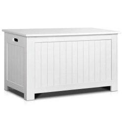 子供のヨーロッパ式木の白いおもちゃの収納箱