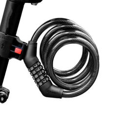 Bicicleta de montaña el bloqueo (5 bits Cerradura de combinación de bloqueo antirrobo Road El bloqueo de cable de alambre de acero Lockal-M5001