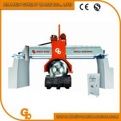 GBQQJ-2500C hidráulico tipo puente hacia arriba y abajo la cortadora de discos múltiples/granito