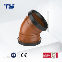 Vc U-PVC 압력 Gasketed 배수장치 관 이음쇠 관 시스템 이음쇠 청소 굴곡 GB 학습 Dosen Sam UK Tianyan OEM