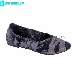 Flyknit personnalisé respirable et de confortables chaussures de ballerine plat