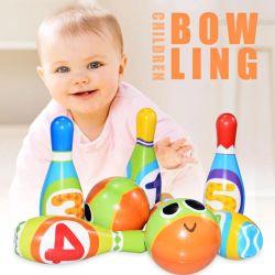 도매 Door Sport Toy Set에서를 위한 2020년 아마존 Most Popular PU Foma Children Bowling