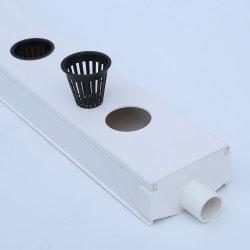 الزراعة Hydroponic الدفيئة الأدراج الهرابونية PVC قناة الري بالتنقيط