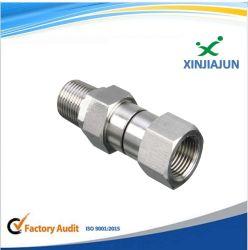 Conexão Hidráulica da Conexão do Tubo de Aço Inoxidável, medidor de pressão cheios de líquido Conexões Pneumáticas