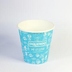 Copa do preparo de café de dupla camada de cor de bolo de sorvete de Refrigerantes Personalizado 16oz copos de papel com tampas e palhetas