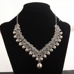 Material-Zubehör Wholesale Legierungs-Braut-Tiara-Ohrring-Halskette für Set