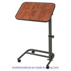 病院の家具の携帯用Overbed表のダイニングテーブルのトロリー価格