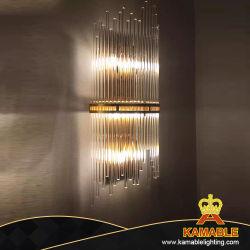 Commerce de gros en acier inoxydable de chevet en verre moderne Wall Lamp (KABW001)
