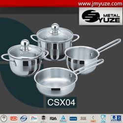 insieme del Cookware del mini capretto 6PCS, POT dell'acciaio inossidabile e vaschette, accessori della cucina