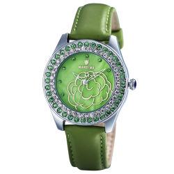 Mode femme Bijoux en alliage d'montre à quartz avec bande de cuir (JY-PU012)