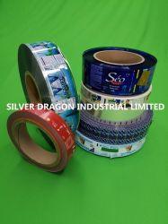 PVC/Pet krimp de Etiketten van de Koker op Stukken Roll/in, zijn het Gebruik van de Hand en het Automatische Gebruik van de Machine Beschikbaar