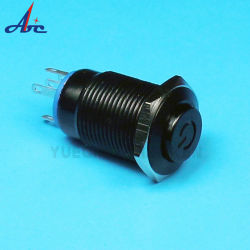 16mm Symbool Voor Tijdelijk Vermogen, Lichtcontact, Geen Nc-Drukschakelaar, Zwarte Behuizing