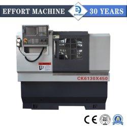 Précision tour CNC lit plat CK6130 pour travailler avec ce métal