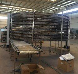 Gran sistema transportador de refrigeración refrigerador pan pan de larga distancia de la línea de transmisión alimentaria