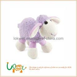 I giocattoli animali della peluche viola promozionale del regalo hanno farcito la bambola delle pecore