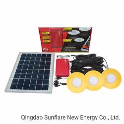 Fonctionnelles multiples 10W à LED blanche Système de kit d'éclairage solaire de la lumière avec 3 pcs Super ampoules LED lumineux pour la maison et l'éclairage extérieur