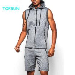 رجال [إكسإكسإكسإكسل] [هووديس] فصل صيف قصيرة كم [تركسويت] قطن رياضة لباس مع عالة علامة تجاريّة