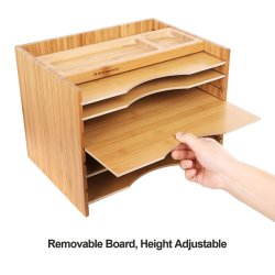 Büro-Möbel-Bambus dokumentiert Organisator