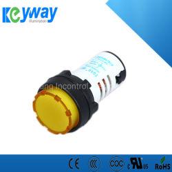 IP65 verschillende LEIDENE van het Ontwerp Indicator Lichte 220VAC 22mm ProefLamp