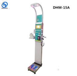 Dhm-15um peso altura Equilíbrio de escala para medir a gordura corporal e pressão arterial o papel moeda trabalhar