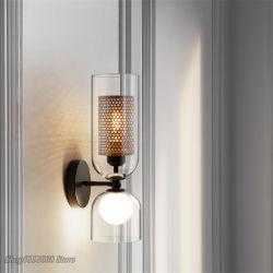 Ferro nórdicos vidro líquido candeeiros de parede Hotel Cafe Corredor moderna do corredor de parede LED Light Sconce (WH-OU-29)