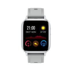 Fashion Silver Watch Gt8 Spracherkennung Körpertemperatur Sport Pedometeruhr Akku 180mAh Android abnehmbare Armband Smartwatch für NFC